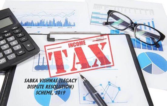 income tax, Sabka Vishwas Scheme